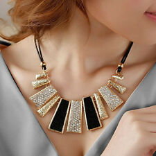 Update Women Jewelry Sector Pendant Crystal Chain Sector Necklace Make Fashion