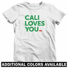 California Loves You Kids T-shirt - Baby Toddler Youth Tee - Cali Los Angeles CA