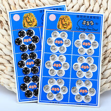 36Pcs New Press Button Snap Metal Fasteners Metal Snap Sewing Accessory