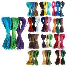 3 Colors 1mm Jewelry Making Cotton Waxed Cord String Thread for Beading 80m