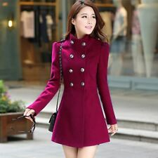 Women A Line Skirt Coat Double Breasted Slim Medium Long Trench Ackets