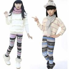 Toddler Kids Girls Baby Winter Thick Fleece Pants Stretch Leggings Trousers AU
