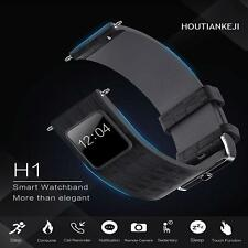22mm Bluetooth Smart Watch Band Strap OLED Pedometer Heart Rate For Android IOS