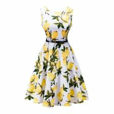 Women Solid Color Summer Stylish Floral Printed Belted Party Wear Dress