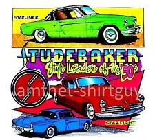 1953 1954 STUDEBAKER ICONIC LOEWY STARLINER & STARLIGHT COUPE CAR T-SHIRT TB154
