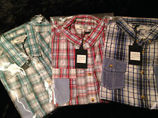 Mens Casual Shirt - VOI Jeans Brand  - Red, Green or Blue Checked - Size 2XL