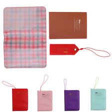 Travel Passport Parts Purse PU Leather Credit Card Wallet Holder Cover Set