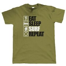 Eat Sleep Surf Repeat T Shirt - Surfing Gift for Him Dad