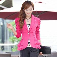 New Fashion Candy Color Single Button Outerwear Blazer For Women
