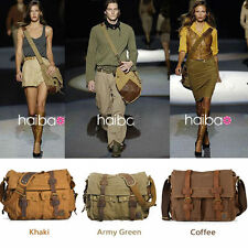 Fashion Cotten Canvas Travel Shoulder Bag Luggage Messenger Tote Pocket Bags