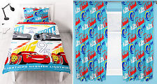 "Cars 3 Lightning Kids Single Duvet Quilt Cover & Curtains - 66""x72"" or 66""x54"""