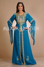 New Dubai Arabian Fancy Evening Party Wear Nighty Kaftan Dress For Ladies 3187