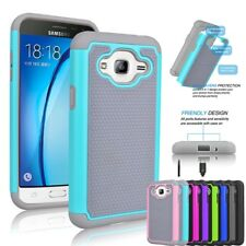 Shockproof Hybrid Rubber Hard Cover Case For Samsung Galaxy J3 /Galaxy Amp Prime