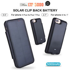 Portable External Solar Power Battery Charger Power Bank Case Cover For iPhone