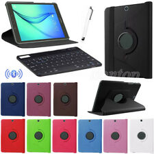 Bluetooth Keyboard+360° Rotating Leather Case Cover For Samsung Tablets +Stylus