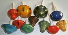 """GARDEN MUSHROOM STAKES Assorted Colors 8.5"""" Tall"""