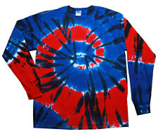 Independence Tie Dye T-Shirts Kids Youth XS - L Long Sleeve 100% Cotton