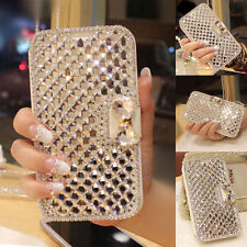 Bling Diamond Bowknot Crystal Flip Wallet  Case Cover Shell For Various Phone