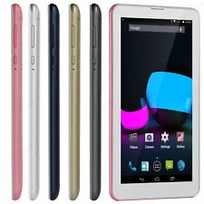 7'' Unlocked 3G Dual SIM Phablet Android 4.4 Tablet PC HD Bluetooth WiFi+3G+2G