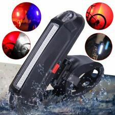 USB Rechargeable COB LED Mountain Bicycle Bike Cycling Rear Tail Light Lamp New
