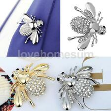 Mini Cute Crystal Rhinestone Insect Bee Bouquet Brooch Pin Charm Jewelry