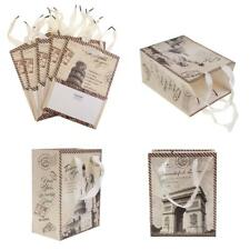 5x Retro Style Paper Landscape Gift Bags Handle Party Bags Wedding Party Favors