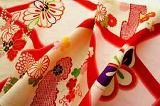 "JPI *Pink Paulownia* Vintage Japanese Girl""s Kimono Silk Fabric,patchwork,Panel"