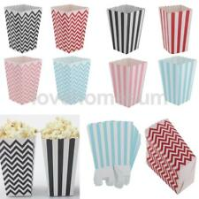 12pcs Striped Waviness Paper Popcorn Candy Sweet Boxes Party Favors
