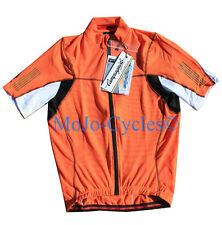 Campagnolo C557 Men's Raytech Full Zip Jersey  Orange White Full Zipper M New
