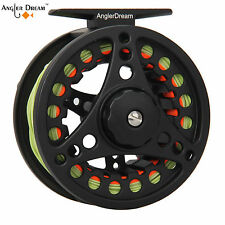 1/2 3/4 5/6 7/8WT Fly Reel MossGreen Fly Line Combo Large Arbor Fly Fishing Reel