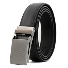 3.0cm Fashion Luxury Automatic Buckle Genuine Leather Mens Belt Waistband Strap