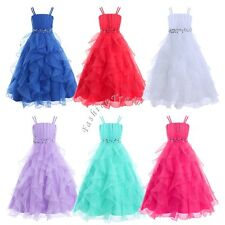 4-14 Flower Girl Dress Princess Pageant Party Dance Wedding Birthday Formal Gown