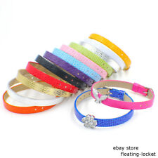 8*210mm DIY Accessorie Snake-Skin PU Leather Wristband Fit 8mm Slide Charms