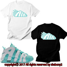NEW CUSTOM TEE Nike Air More Uptempo matching T SHIRT UTP 1-9-3 ISLAND GREEN