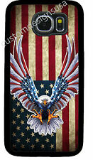 AMERICAN EAGLE FLAG PHONE CASE COVER FOR SAMSUNG NOTE & GALAXY S4 S5 S6 S7 S8 S9