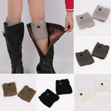 Fashion Women Crochet Knitted Lace Trim Leg Warmers Cuffs Toppers Boot Socks New
