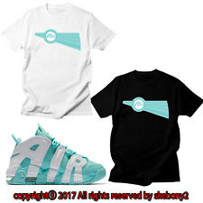 NEW CUSTOM TEE Nike Air More Uptempo matching T SHIRT UTP 1-9-6 ISLAND GREEN