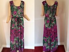 Glamorous Pistachio MAXI Dress Summer Holiday animal print Purple Peacock