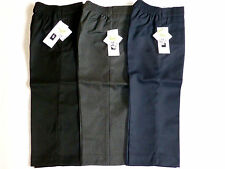 SCHOOL BOYS PULL-UP TROUSERS-BLACK/GREY/NAVY- AGES 1-8YRS- TEFLON PROTECTOR