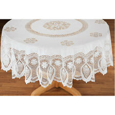 Vinyl Lace Tablecloth Dining Table Cover Cloth Round Tablecloths Oblong Multiple