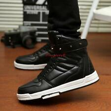 Men's Fashion Sneakers studded Ankle Boots Skate Lace Up High Top Shoes