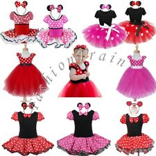Baby Girls Minnie Mouse Dress Up Party Fancy Cosplay Ballet Tutu Skirt Costume