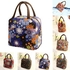 Thermal Insulated Tote Picnic Lunch Cool Bag Cooler Box Handbag Pouch Zipper Bag