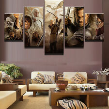 5 Panel Lord Of The Rings Movie Canvas Print Painting Wall Art Home Decor