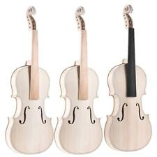 Full Size 4/4  Natural Solid Wood Acoustic Violin DIY Set with Accessories U4C5