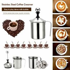 800ml Stainless Steel Milk Frother Cappuccino Coffee Frother Double Froth Pump