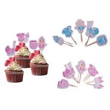 20pcs Baby Boy Girl Cupcake Picks Cake Toppers Party Favors Decoration