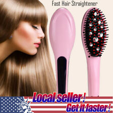 HOT Straight Hair Comb Simply LCD Heat Digital Brush Electric Straightening