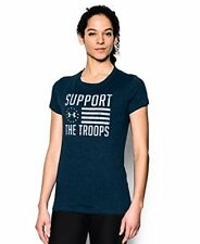 Under Armour Women's Charged Cotton Tri-Blend Support Troops T-Shirt