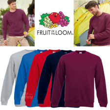 Fruit of the Loom MEN'S SWEATSHIRT PREMIUM CLASSIC SWEAT CASUAL STYLE ALL SIZES